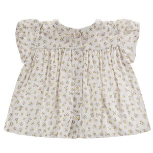 Juno Blouse - Tiny Buttercup Floral - Little Cotton Clothes