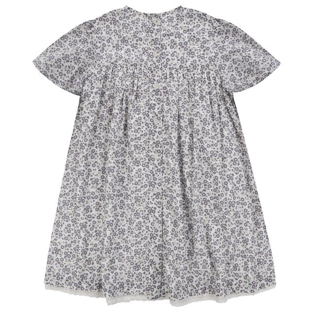 Mary Dress - Daisy Floral Blue - Little Cotton Clothes