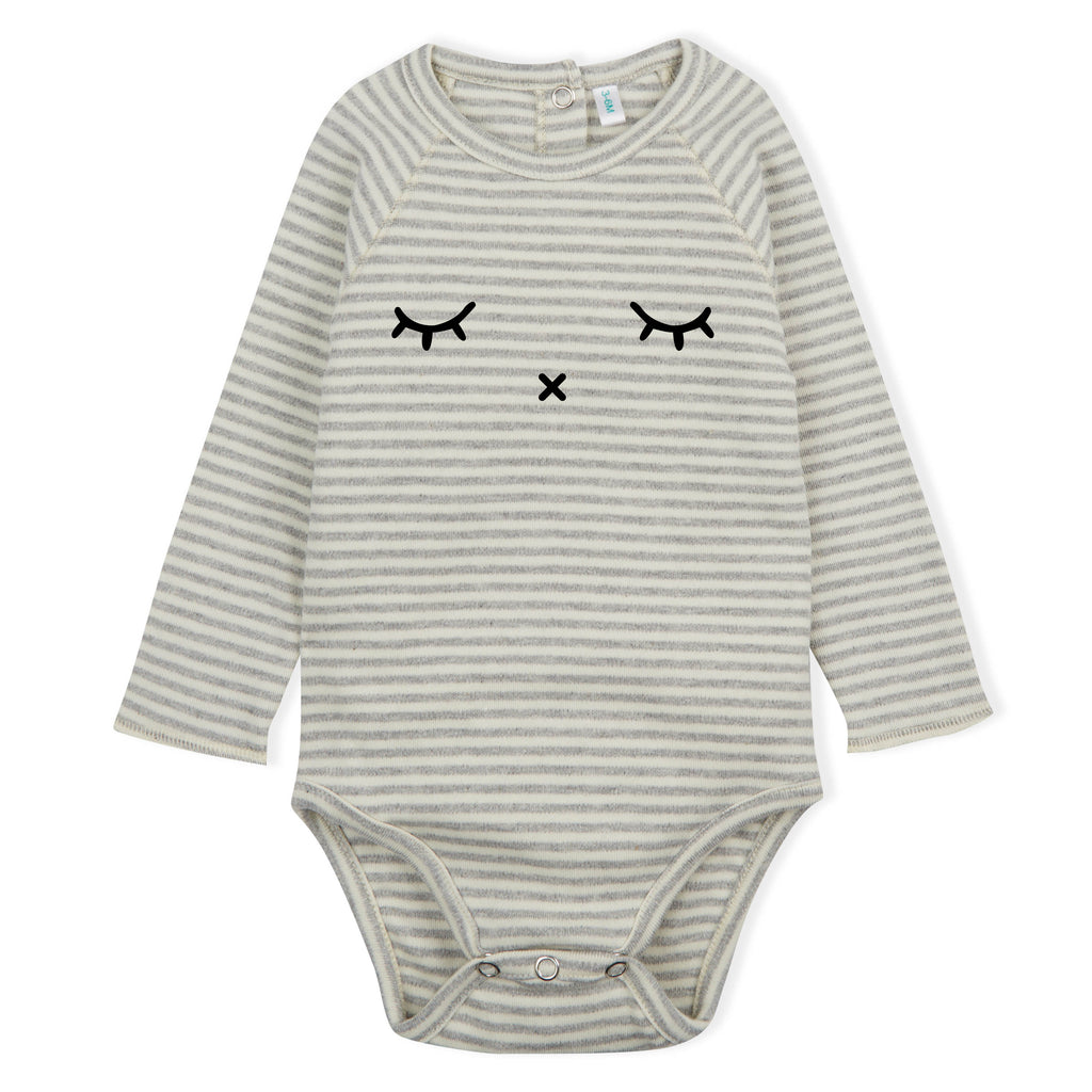 Grey Stripes SLEEPY Bodysuit