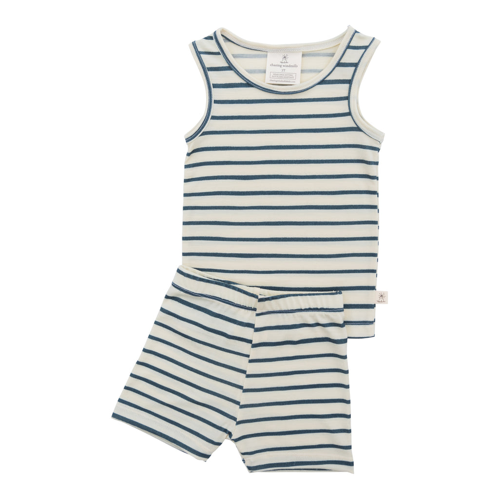 Chasing Windmills Short Johns (marine stripe)
