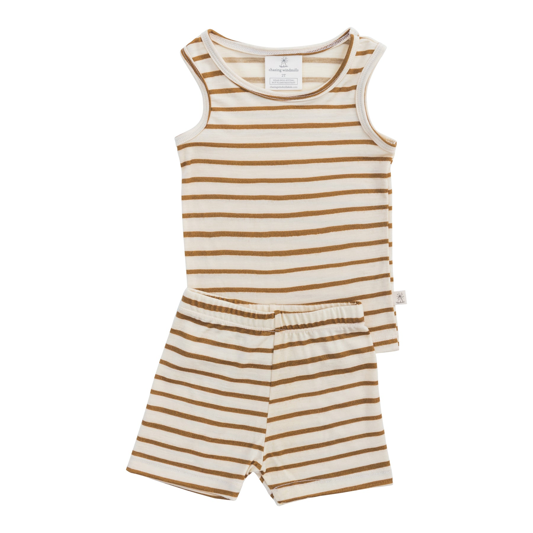 Chasing Windmills Short Johns (ochre stripe)