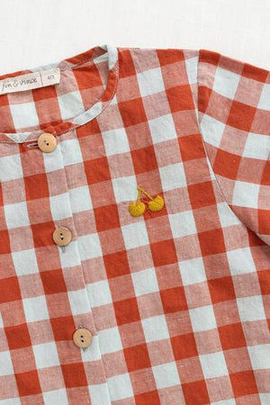 Fin & Vince Button Up - Picnic Plaid Top