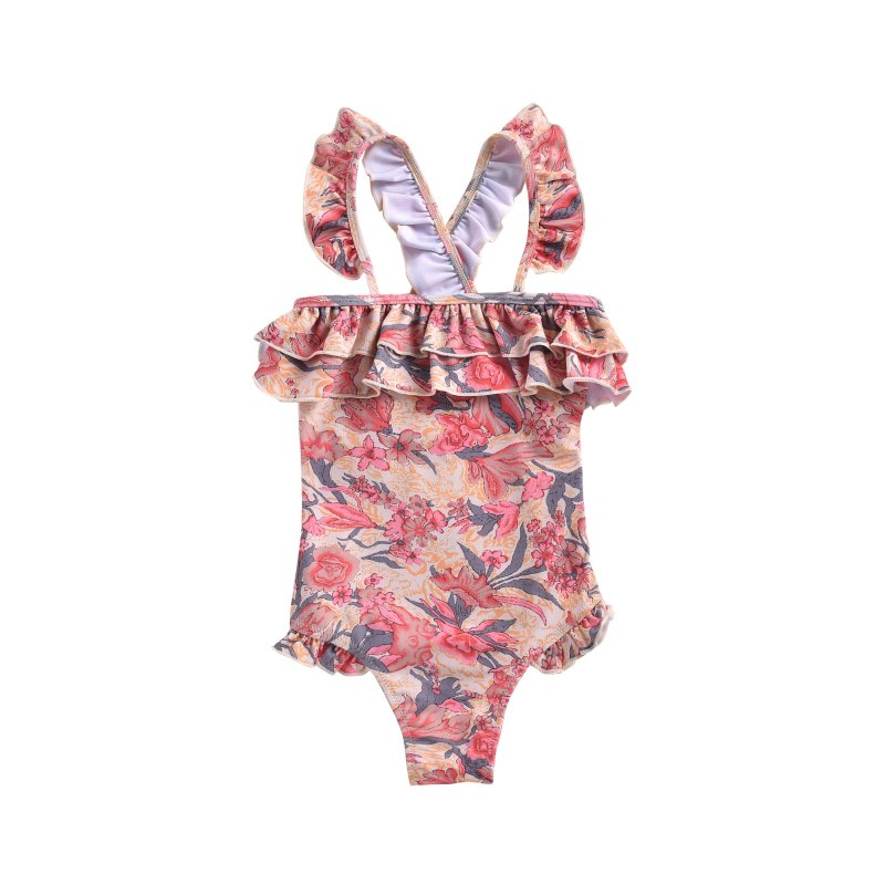 Bathing Suit Zacatecas Pink Flowers - Louise Misha