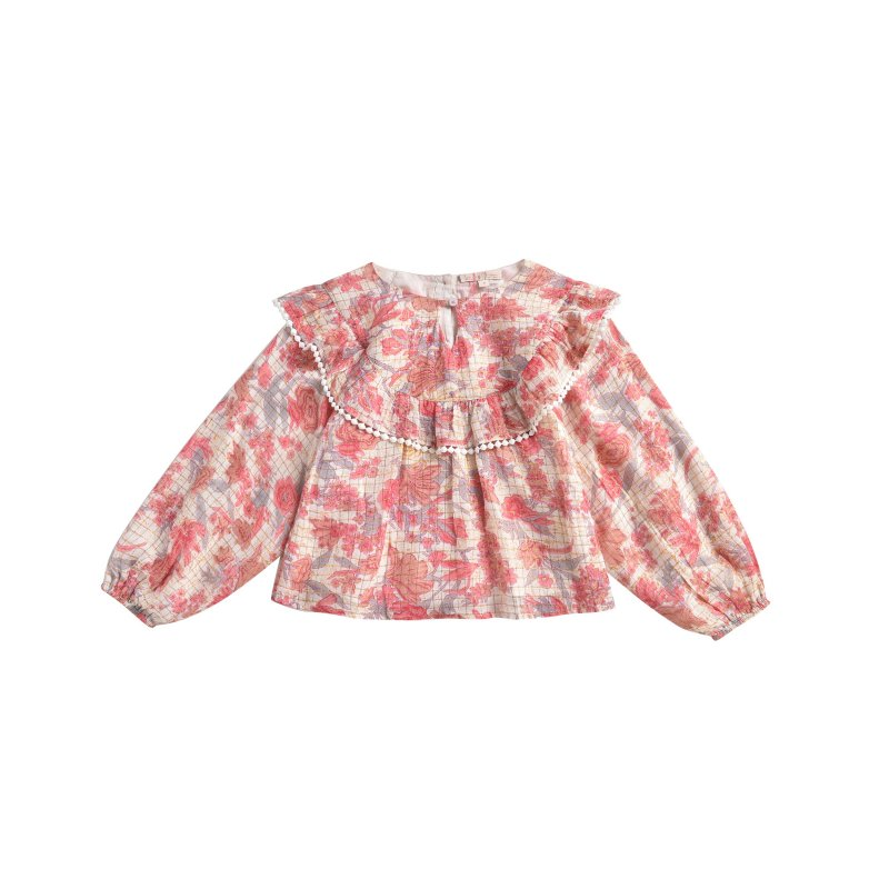 Blouse Yuri Pink Flowers