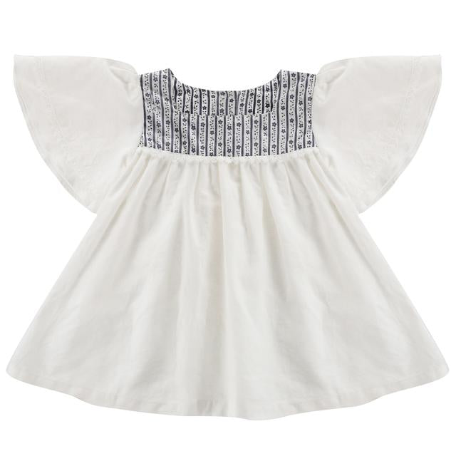 Laura Blouse - Off-white Cotton Linen - Little Cotton Clothes