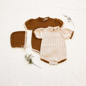 Fin & Vince Amelia Romper - Toffee