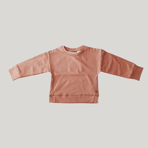 BABY PULLOVER. CORAL