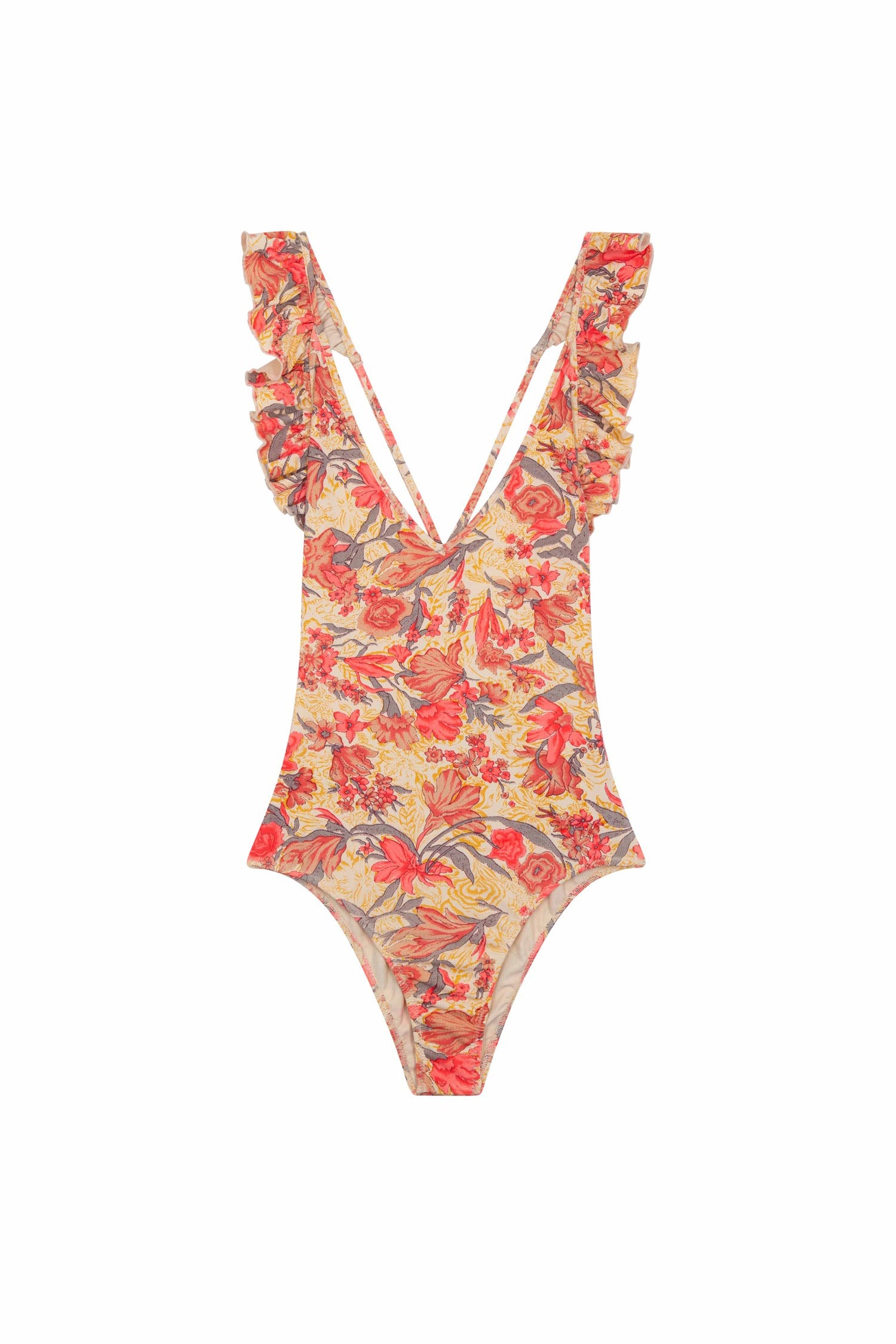Bathing Suit Reva Pink Flowers - Louise Misha