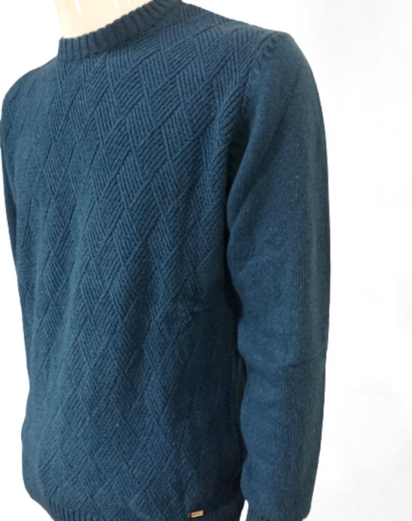CREW NECK SWEATER WITH SCETCH WOOL