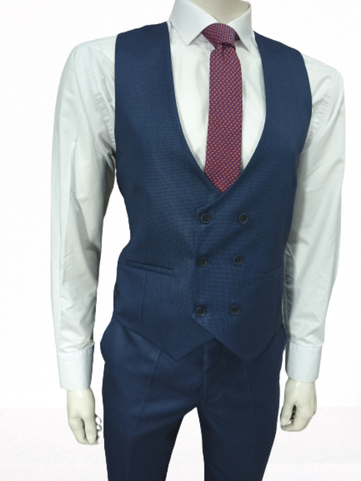 SLIM FIT 3 PIECE SUIT WOOL