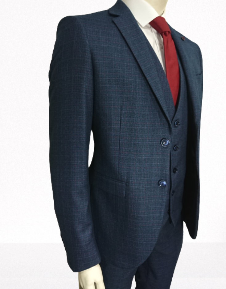 MASTER TAILOR CHECKED SUIT SLIM FIT