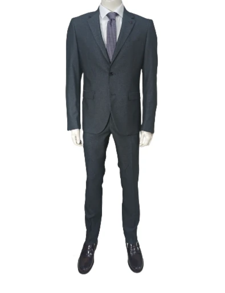 2 BUTTONS SUIT SLIM FIT MICROTEXTURED