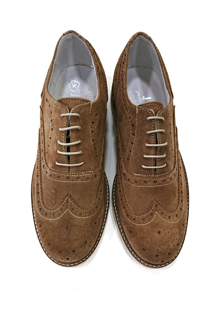 SCUDIERI SHOES SUEDE BROGUE