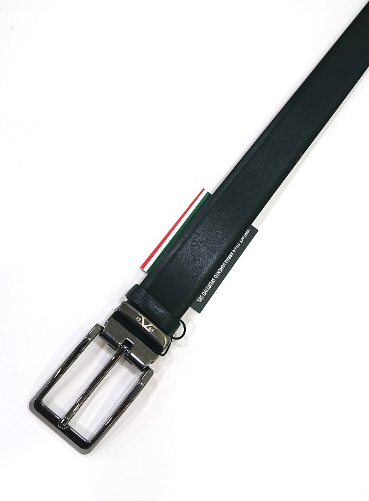 VERCACE1969 BELT LEATHER BLACK