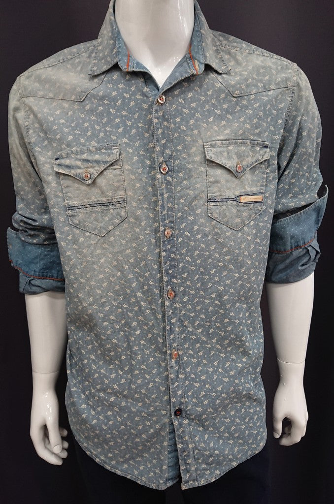 EDWARD DENIM SHIRT SCETCH