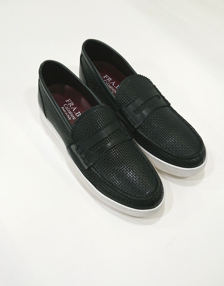 FRA.BI SCETCH LEATHER LOAFERS