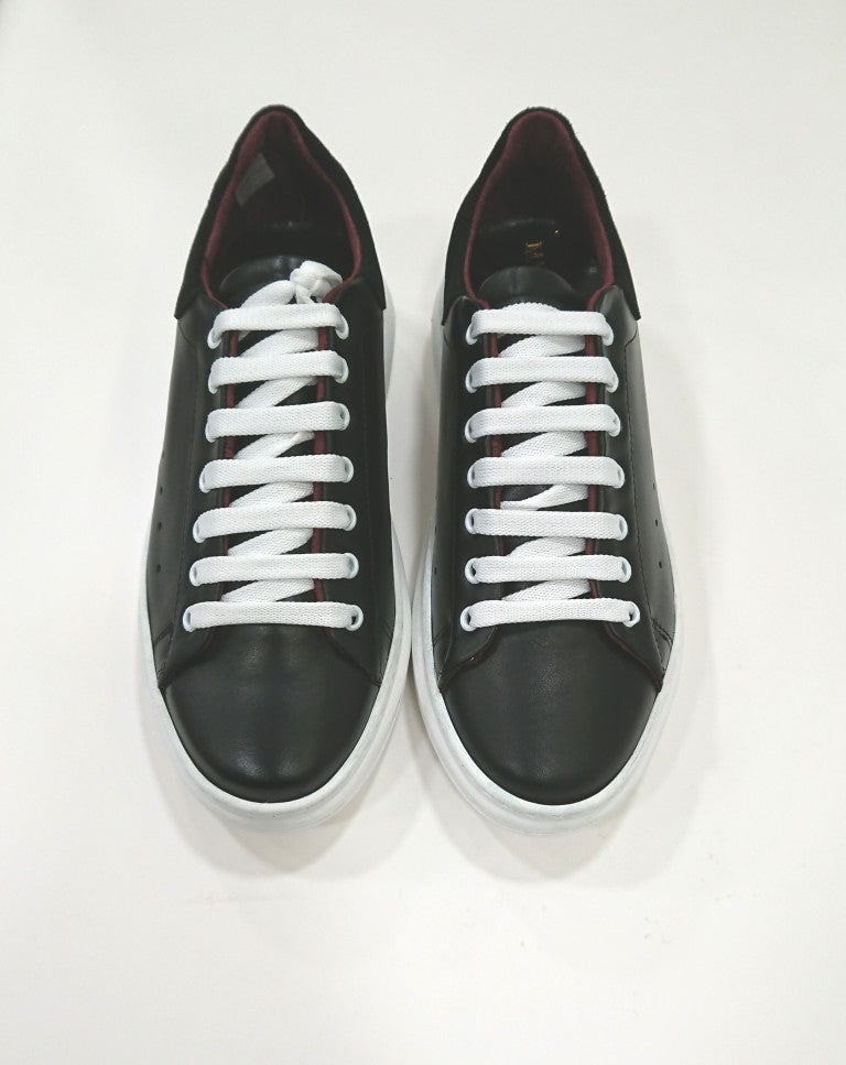 FRA.BI BLACK LEATHER TRAINERS