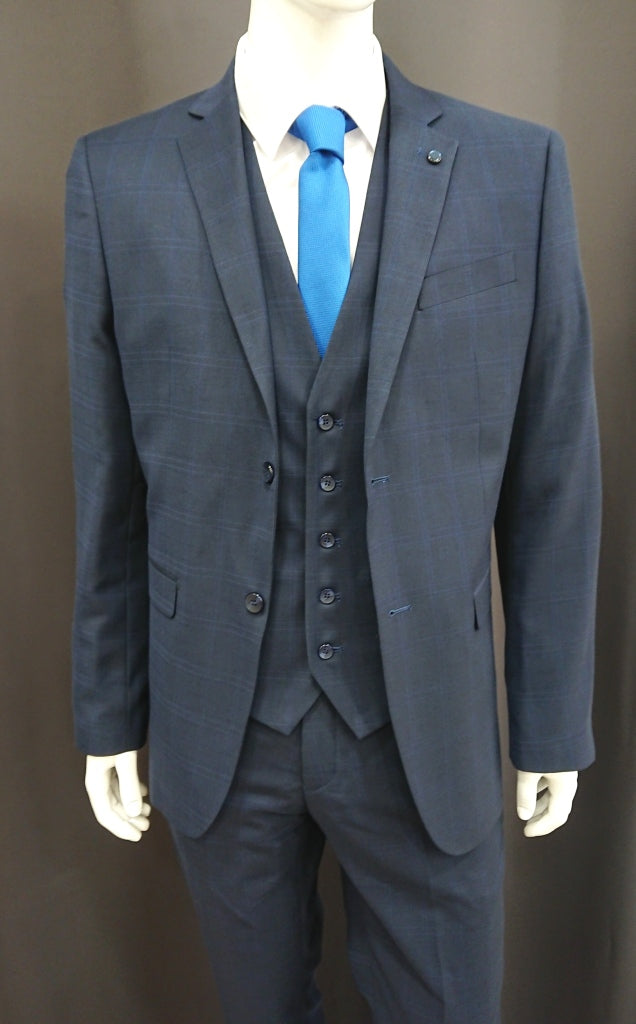 MASTER TAILOR 3PIECE CHECKED SUIT