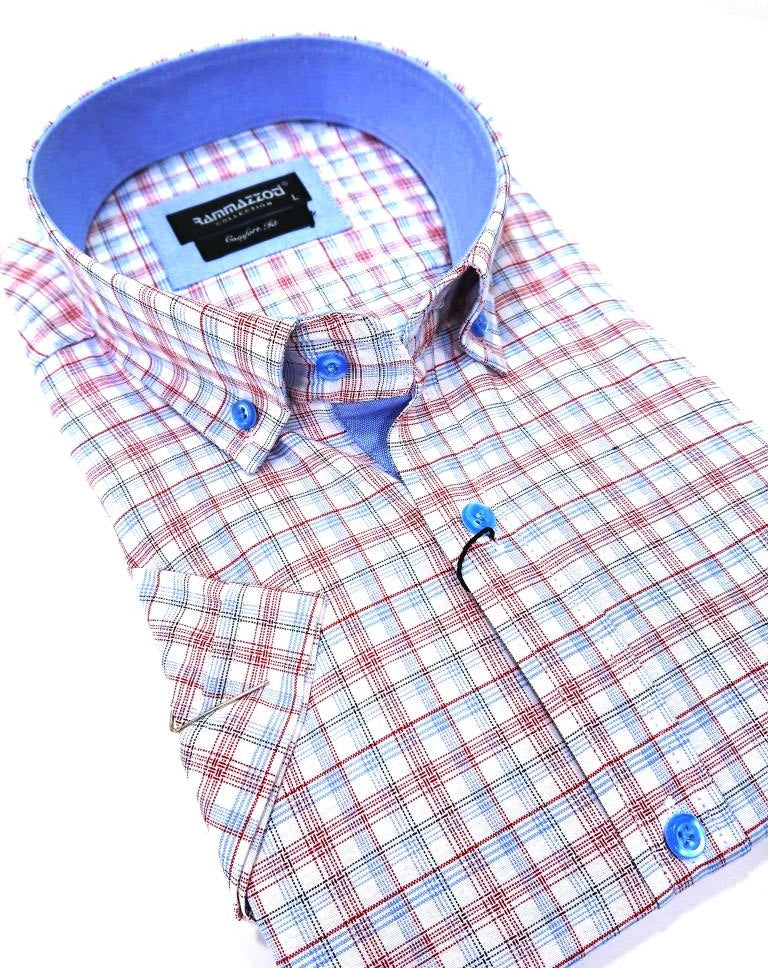 RAMMAZZOTI CHECKED SHIRT SHORT SLEEVE