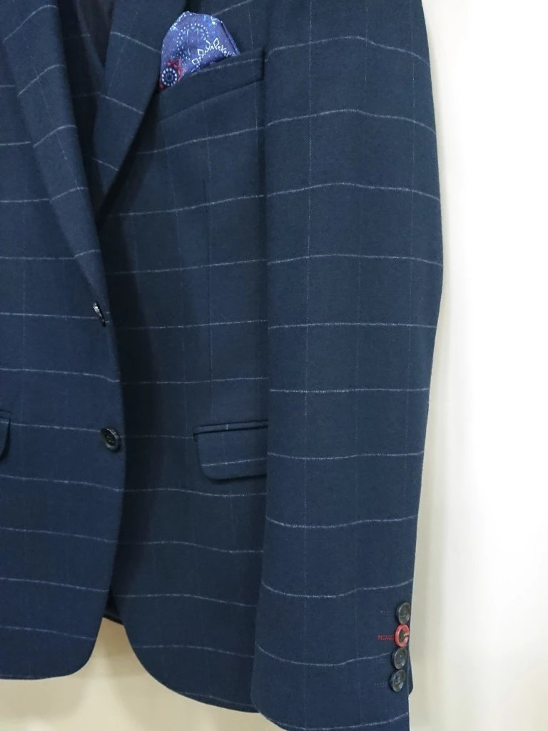 D-ZINE CHECKED SUIT WOOL