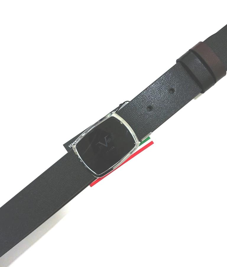 VERCACE 1969V BELT LEATHER BLACK-BROWN