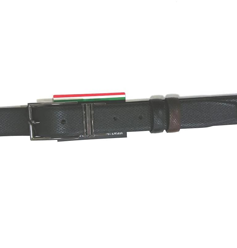 VERCACE 1969V BELT LEATHER BLACK -BROWN