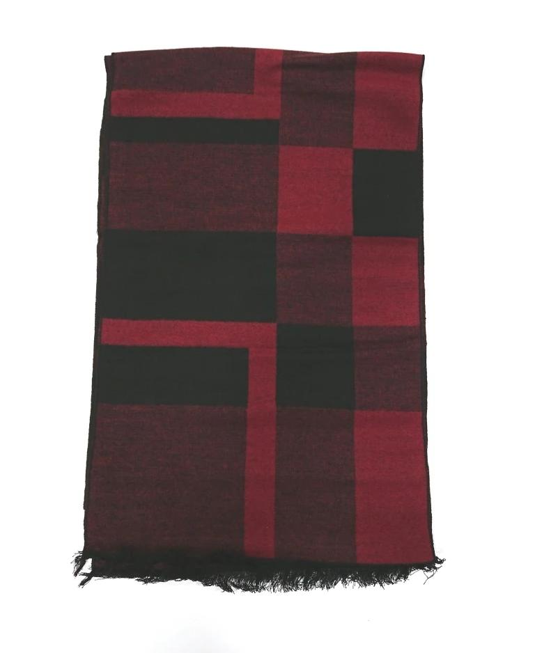 SCARF TWO-TONE WOOL