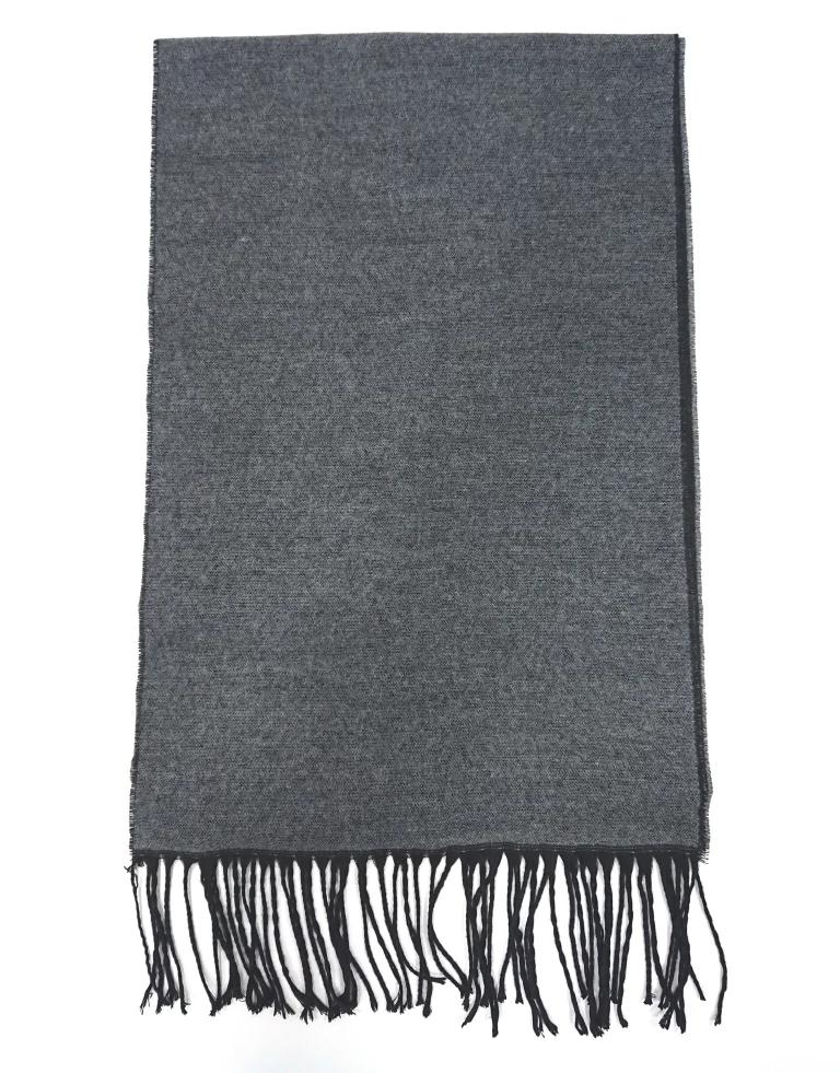 SCARF TWO-TONE WOOL GREY