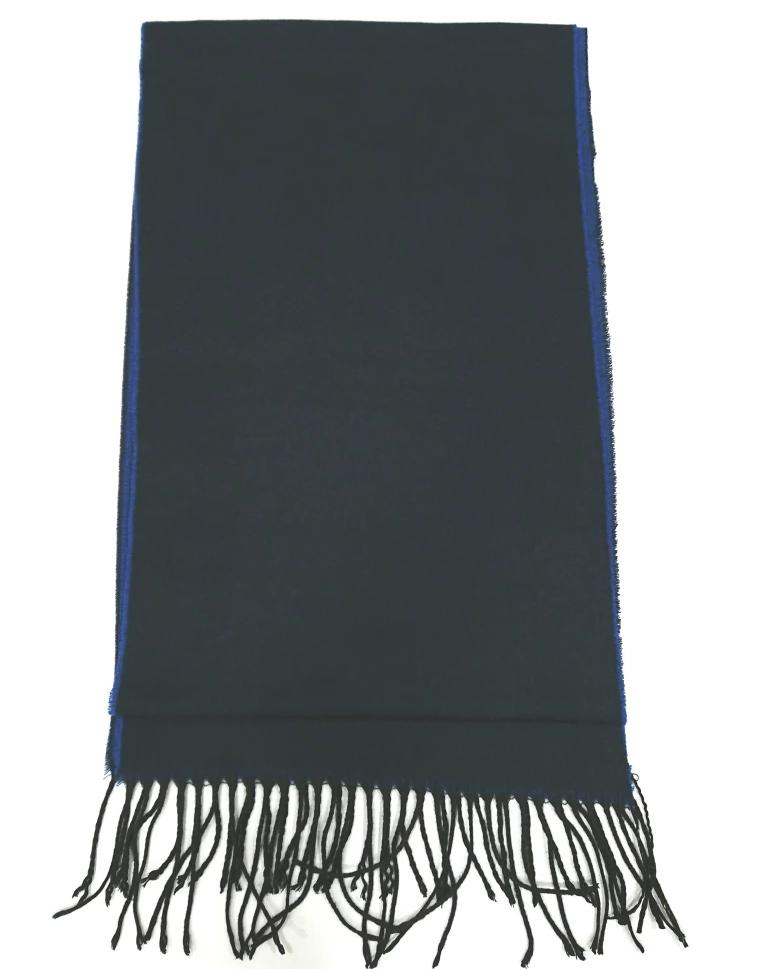 SCARF TWO-TONE BLUE WOOL