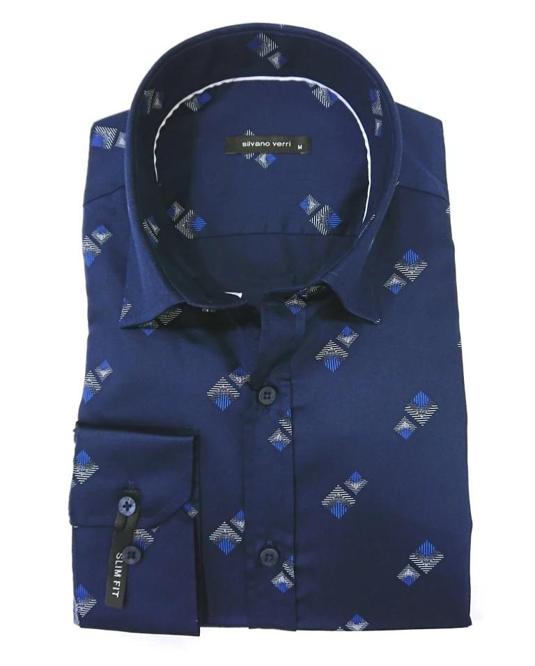 SILVANO VERRI SHIRT SCETCH SLIM FIT