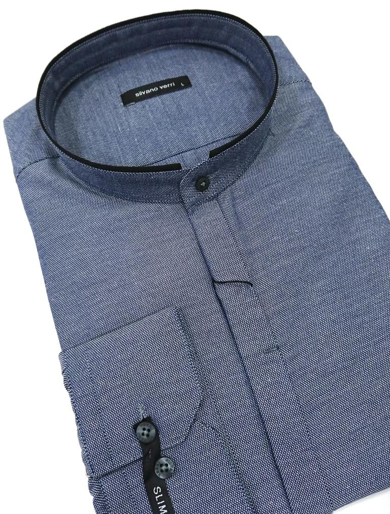 SILVANO VERRI MAO COLLAR SHIRT SLIM FIT