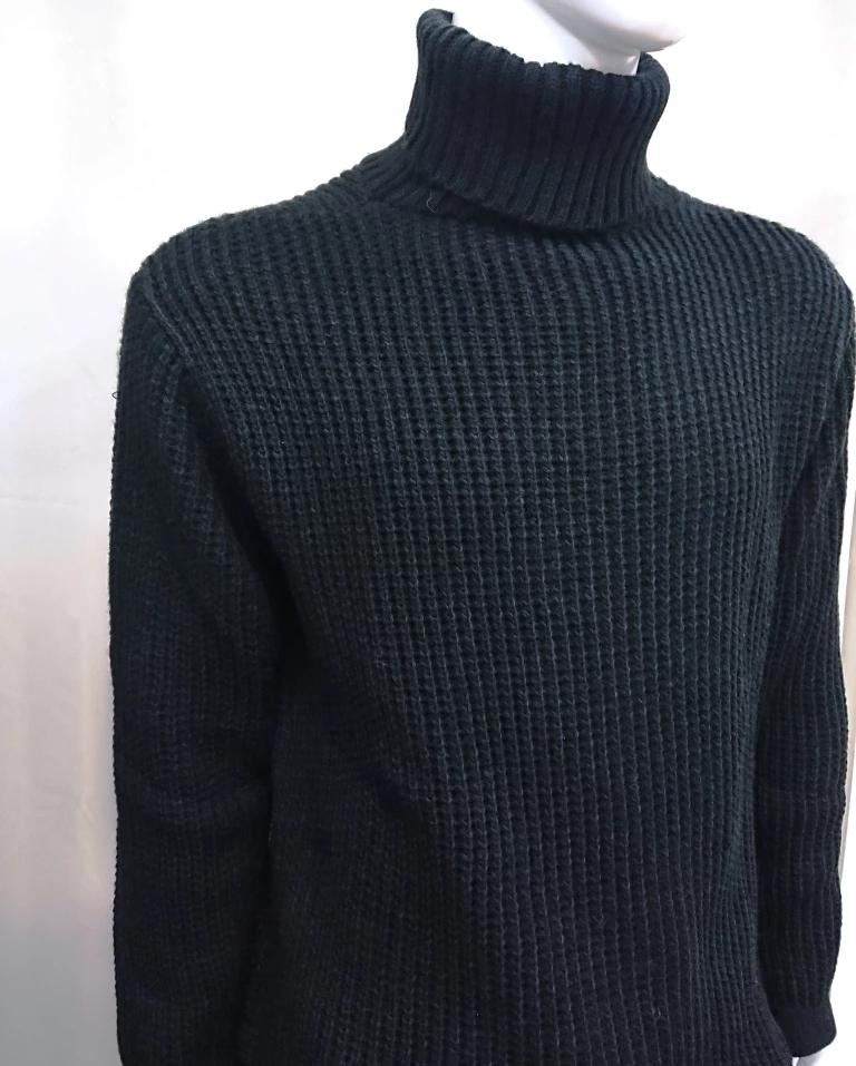 BELLISSIMO HIGH NECK CABLE-KNIT SWEATER
