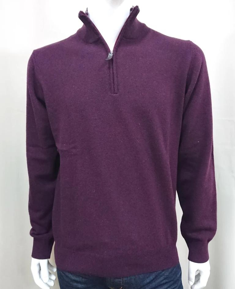SIR RAPHAEL ZIP KNIT SWEATER WOOL
