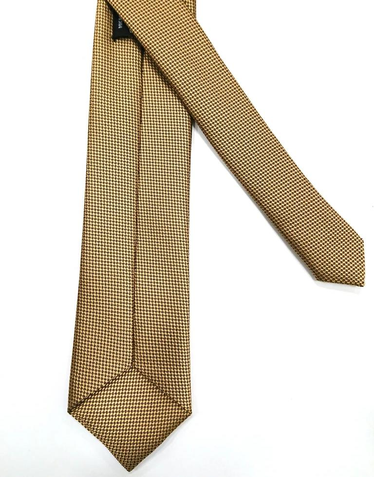 TEXTURED PLAIN SILK TIE