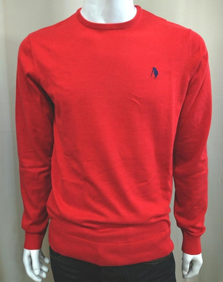 POLO CLUB COTTON KNIT CREW NECK SWEATER