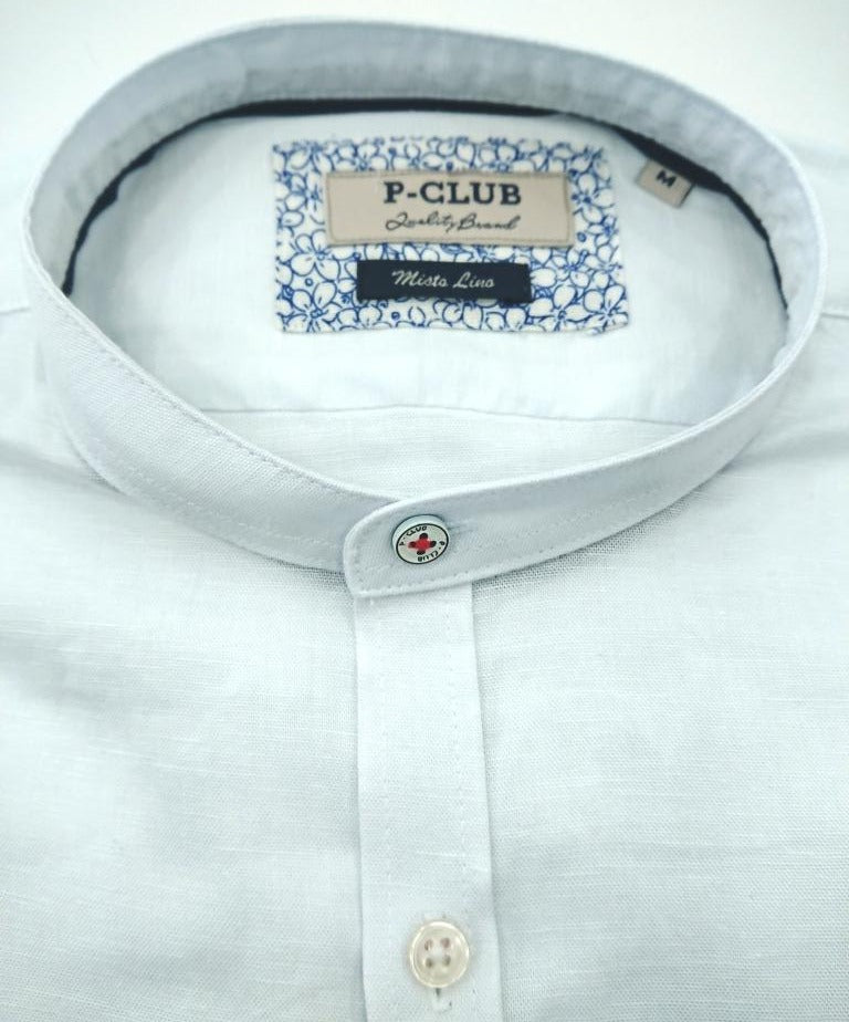 POLO CLUB STAND-UP COLLAR SHIRT COTTON LINEN