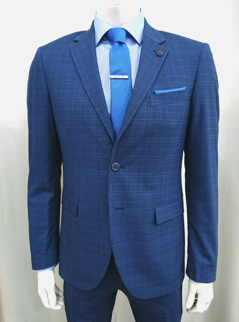 MASTER TAILOR CHECK SUIT SLIM FIT