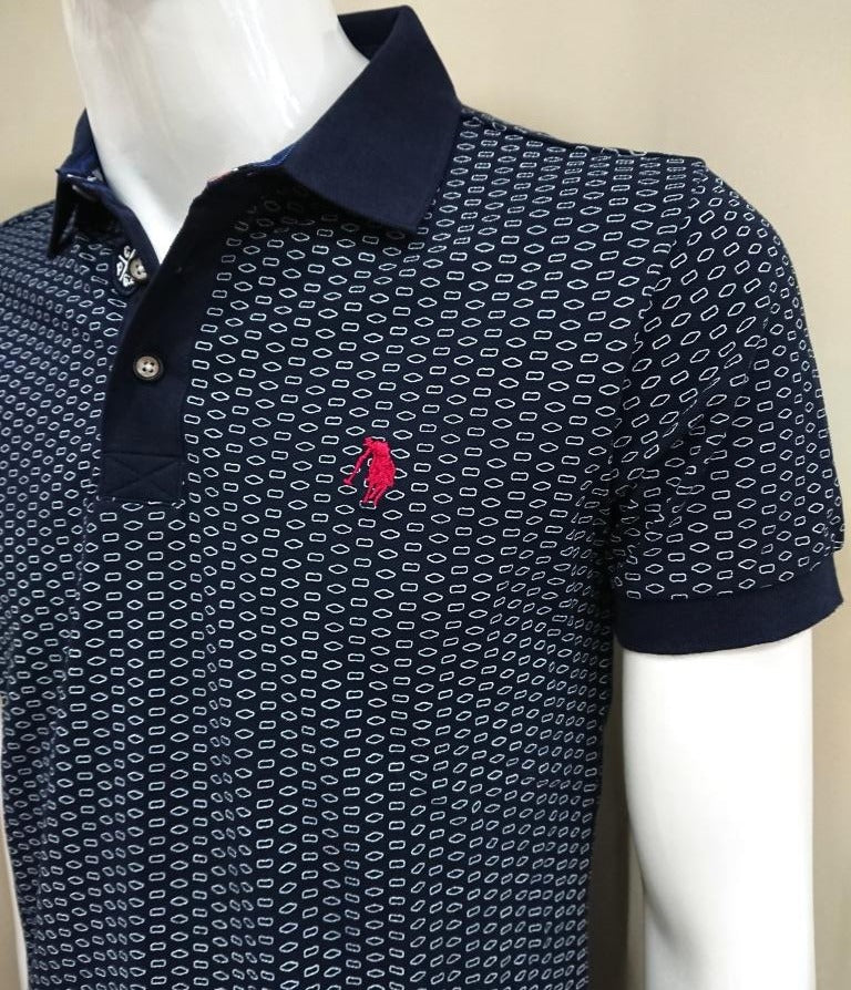 POLO CLUB POLO SHIRT WITH SCETCH