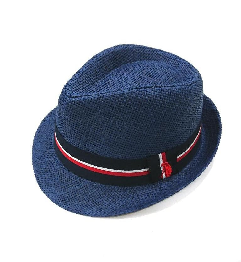 POLO CLUB PANAMA HAT WITH STRIPE