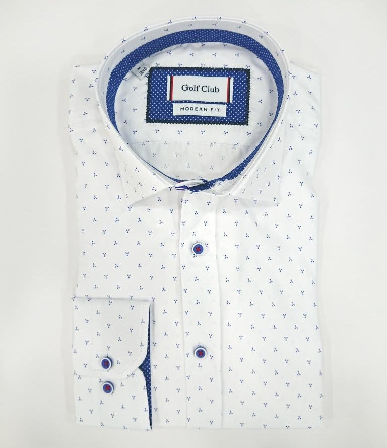 GOLF CLUB FORMAL SHIRT WITH SCETCH