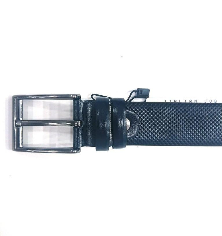 BLUE LEATHER BELT WITH DOTS FORMAL STYLE