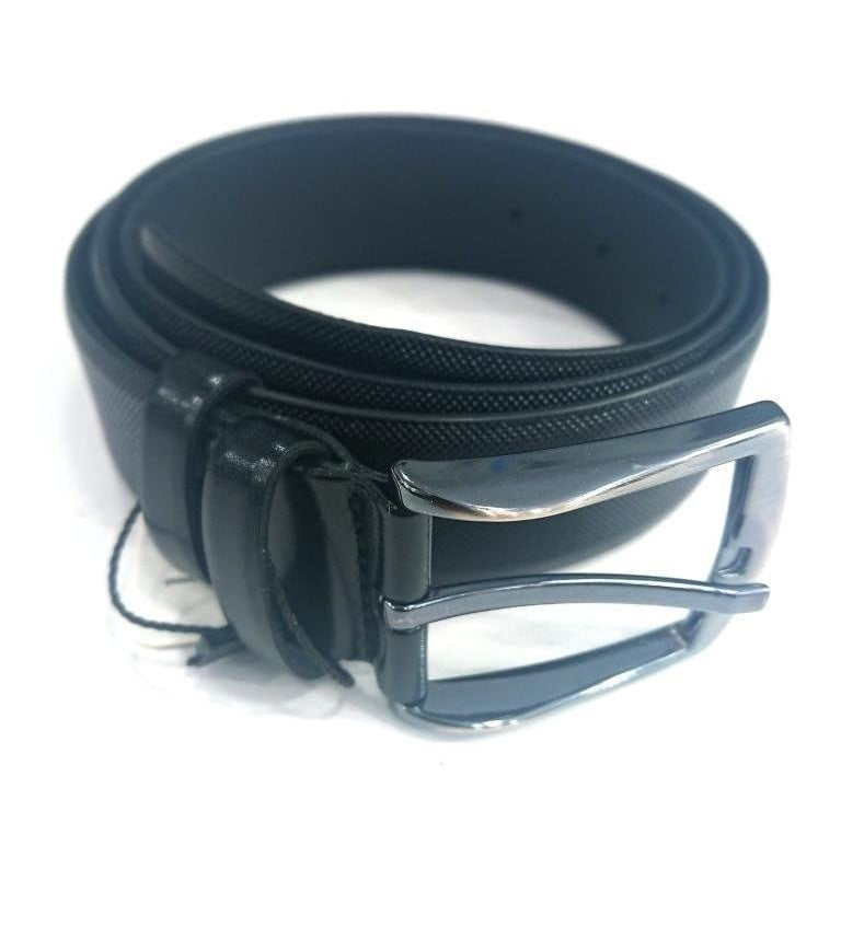 BLACK LEATHER BELT WITH DOTS