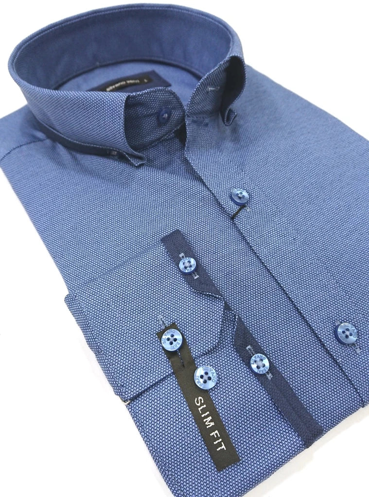 SILVANO VERRI SHIRT SLIM FIT WITH SCETCH