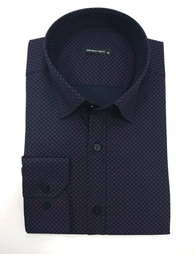 SILVANO VERRI SHIRT WITH SCETCH SLIM FIT