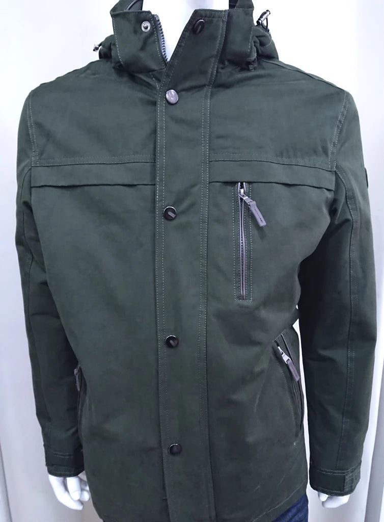NORTH STAR KHAKI JACKET WITH HOOD