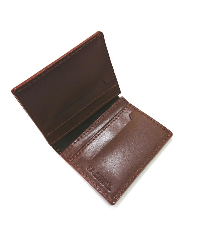 BERGMAN LEATHER WALLET CAMEL CARDHOLDER