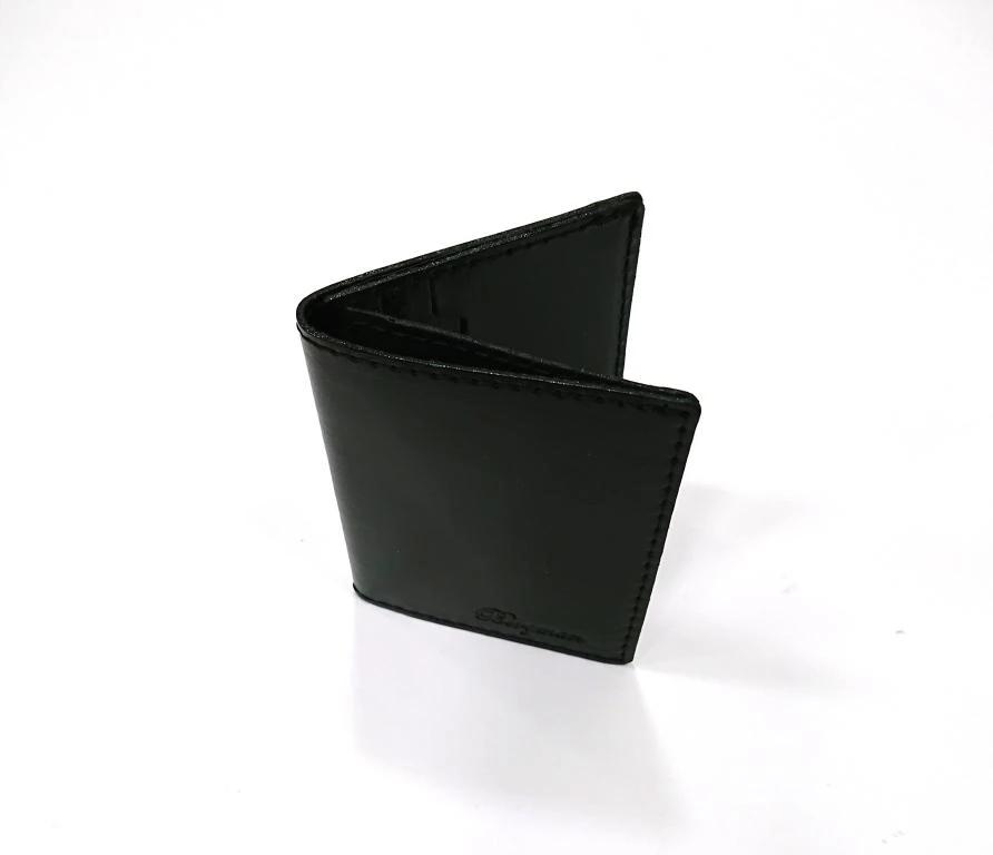 BERGMAN WALLET LEATHER BLACK CARDHOLDER