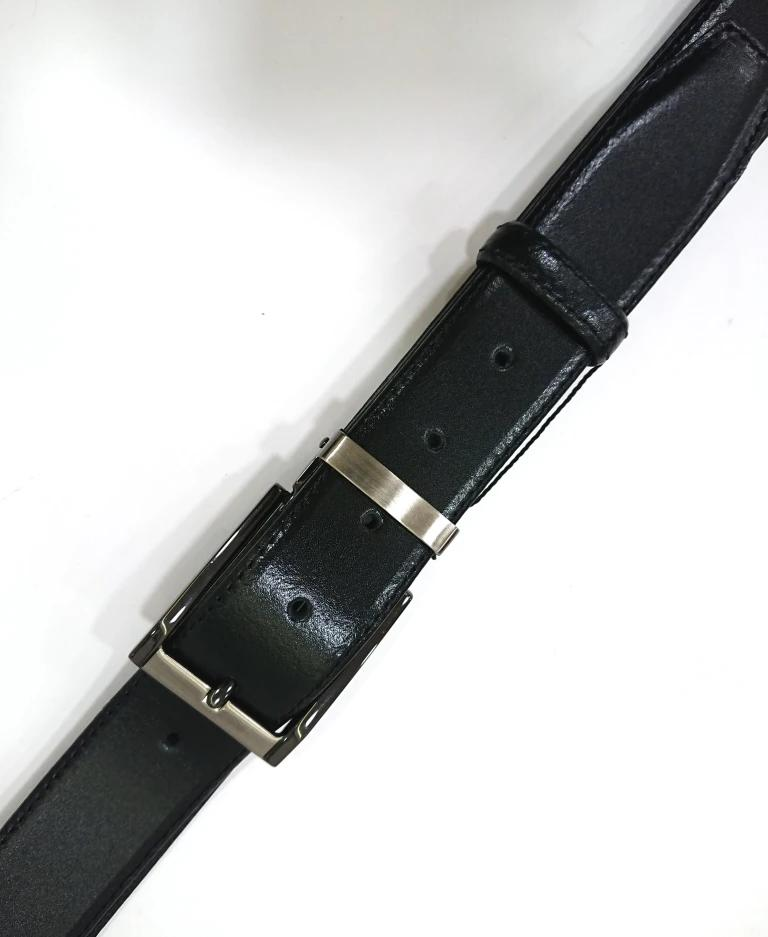 CAVALLIER LEATHER BELT BLACK