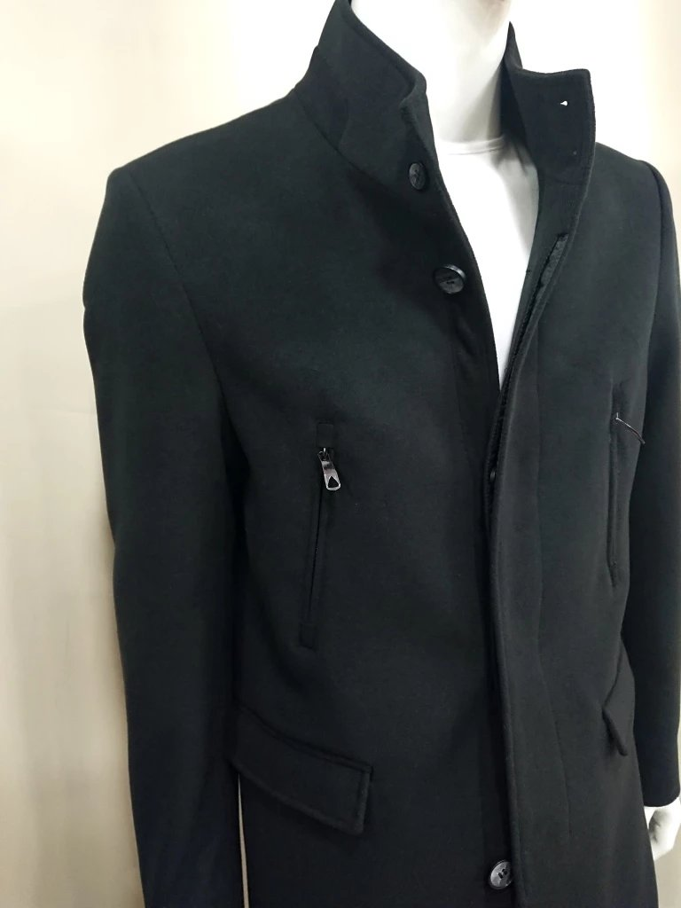 NORTH STAR COAT BLACK WOOL