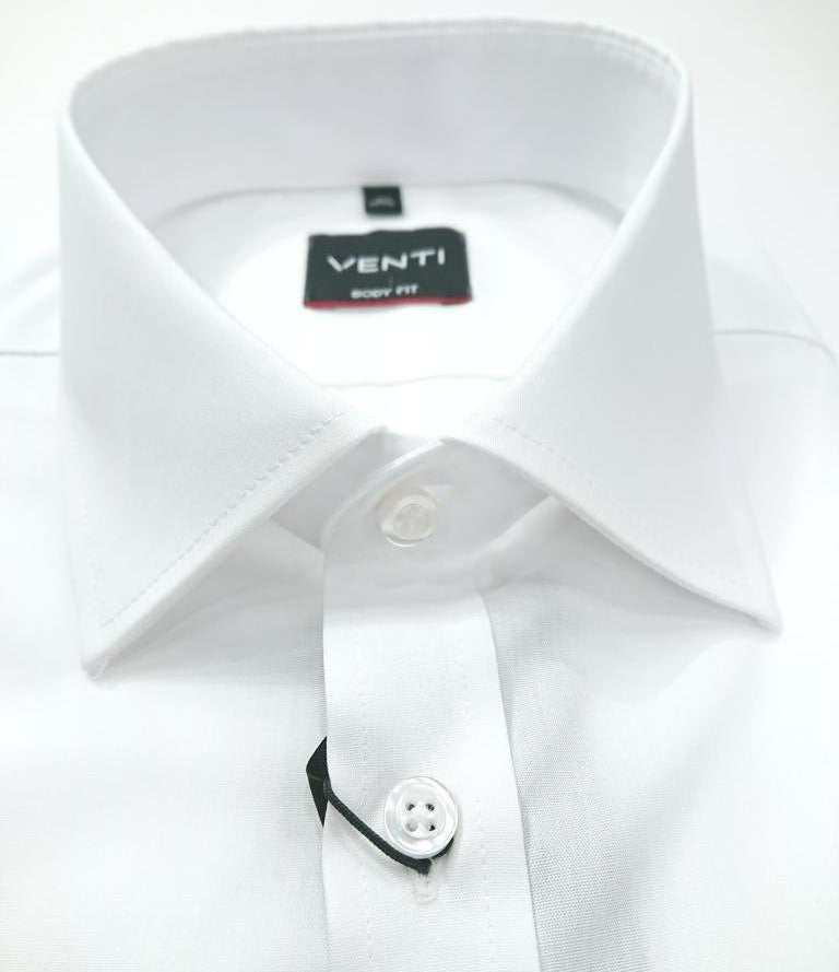 VENTI NON IRON WHITE TWILL SLIM FIT SHIRT